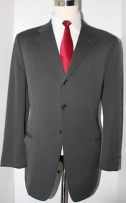 Giorgio Armani Collezioni Gray Three  Button Wool Suit 44 R Jacket 37 30 Pants