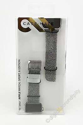 NEW Case-Mate Brilliance Band 38mm Apple Watch Silver CM032789 + Sport & Edition
