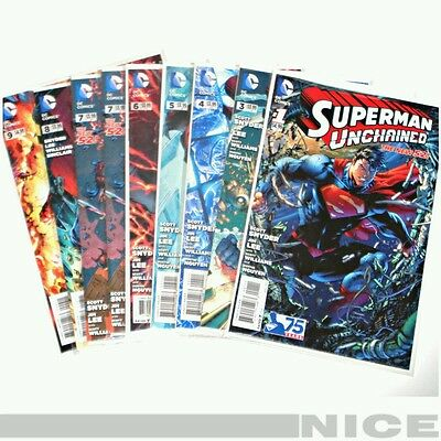 Superman Unchained (DC, New 52) Odd Set 1 3 4 5 6 7 7 8 9