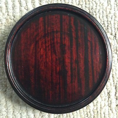 Fine Old Chinese Carved Lacquer Rosewood Stand For Display Art Bowl or Lamp Vase