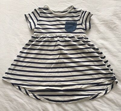 Navy And White Striped Dress From Next Age 18-24 Months
