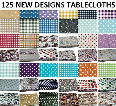 Wipe Clean Tablecloth Vinyl Oilcloth Table Cover Protector 100X140 & 200X140 Cm