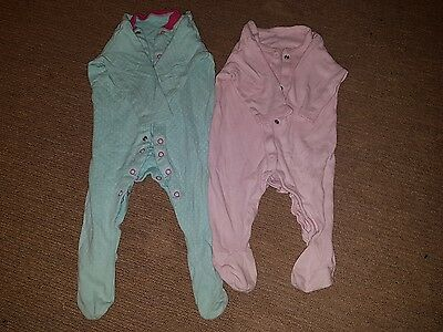 Baby girls sleepsuits 3-6 months