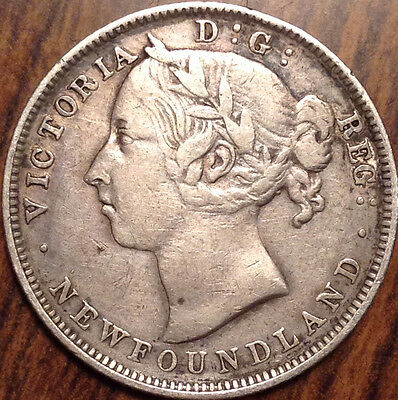 1888 Newfoundland Nfld Silver 20 Twenty Cents In Beautiful Condition !
