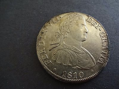 Mexico 8 Eight Reales 1810 TH VERY SCARCE VARIETY