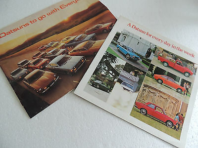 2 Brochures Datsun 510 & 240Z & 280Z Brochure 1971 and 1975 Full line series