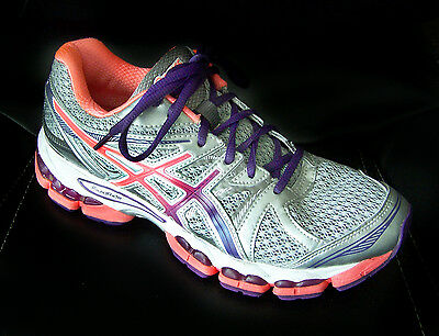 ASICS Women's size 9.5 Shoes $145 Running Sneakers 41.5 Gel Evate 2 Silver Coral