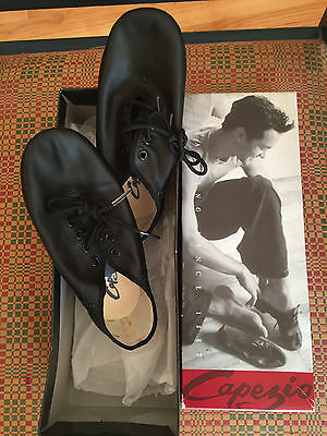 New in Box Childs sz 12 M CAPEZIO JAZZ Oxford Dance Shoe Black HIP HOP