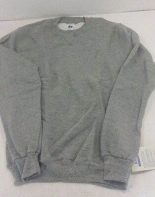 Vintage Tri-Blend Rayon Russell Athletic Crew Sweatshirt Oxford Gray DEADSTOCK
