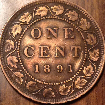 1891 Sdll Canada Large 1 Cent Obv#2 - Cleaned