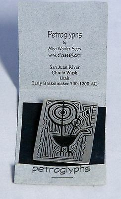 Petroglyphs by Alice Warder Seely - Urban Fetishes Lead-Free Pewter Pin Brooch