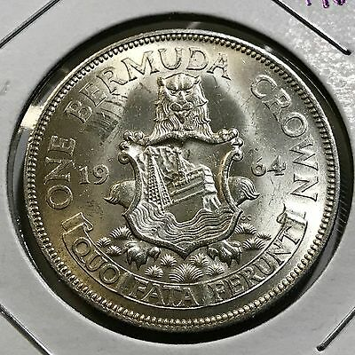 1964 Bermuda One Crown  Silver Uncirculated Crown