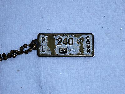 1940 Goodrich Tires Batteries Connecticut Key Fob with Chain Very Collectible