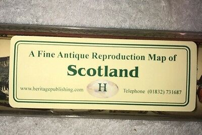 New Tubed Colour Map Of Scotland A Fine Antique Reproduction Map Of Scotland