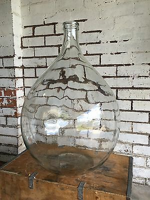 ITALIAN Vintage Funky 54lt Clear Glass DEMIJOHN CARBOY Wine Making Bottle EC