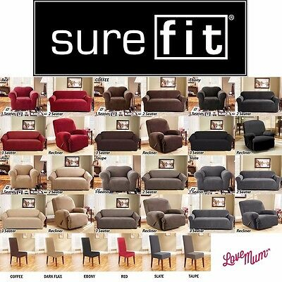 Surefit Stretch Couch Sofa Lounge Covers Recliner 1 2 3 Seater and Dining Chair