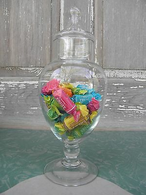 Apothecary Style Footed Candy Jar Clear Glass Wedding Buffet Display