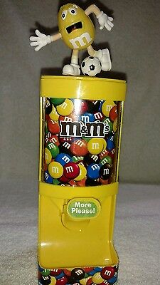 """M&M's Yellow Soccer """"More Please"""" Candy Dispenser"""