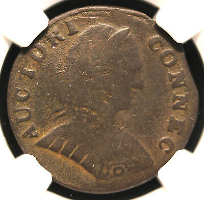 1787 Connecticut Colonial Coin Small Bust NGC VG Details