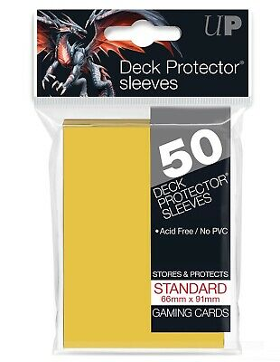 Ultra Pro Canary Yellow 50 Count Pk Standard Size Gaming Deck Protector Sleeves