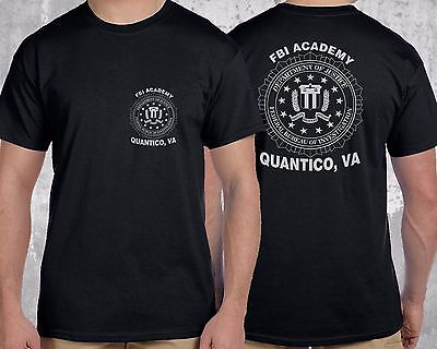 NEW FBI Academy Quantico, VA Police US Department Of Justice T-Shirt