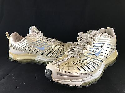 NIKE AIR MAX FLEX SUPPORT Running Shoes White Pearl Baby Blue Womens Size 7.5