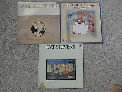 3 Original Cat Stevens Vinyl Record LP's from the 70's