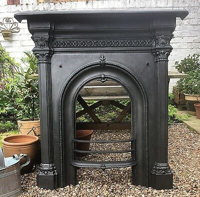 Fully Restored Victorian Cast Iron Fire Surround