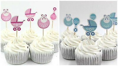 Baby Shower It's A Boy   It's A Girl Cupcake Cake Toppers / Party / Favours