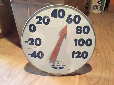 "Original 18"" dia. American Gas/Oil wall Advertising Thermometer"