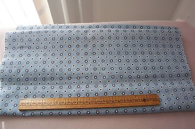 Vtg 100% Cotton Quilt Doll Dress Fabric 36w  Textured FRILLY FLOWERS