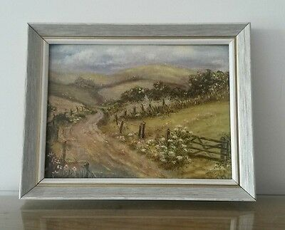 Small Original Landscape Oil Painting on Artist Board Signed Colville Framed