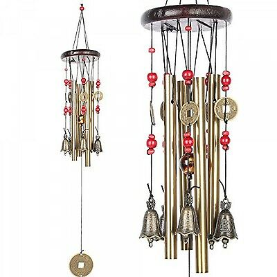 Chinese Traditional Wind Chime 4 Tubes 5 Bells Outdoor Garden Ornament Decor New