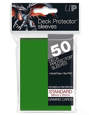 Ultra Pro Matrix Green 50 Count Pack Standard Size Gaming Deck Protector Sleeves