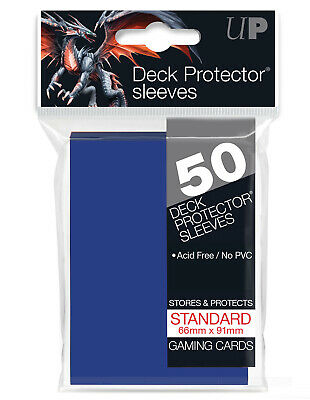Ultra Pro Tsunami Blue 50 Count Pack Standard Size Gaming Deck Protector Sleeves
