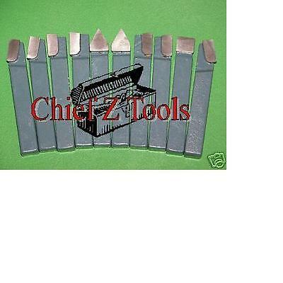 """NEW 10pc Metal Lathe Mill Carbide 3/8"""" C2 Cutter Tooling Turning Quality Bit Set"""