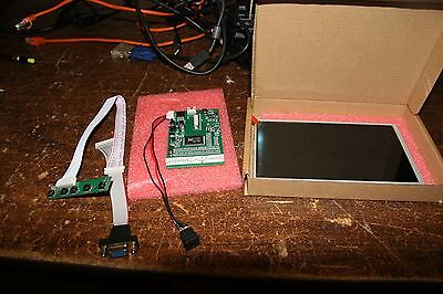 """7"""" lcd display panel 800x480 with controller TFT 12volt embedded project"""