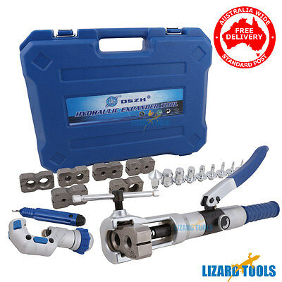 Hydraulic Tube Expander Flaring Tools Kit Cutter Plumbing Swaging Tool T0288
