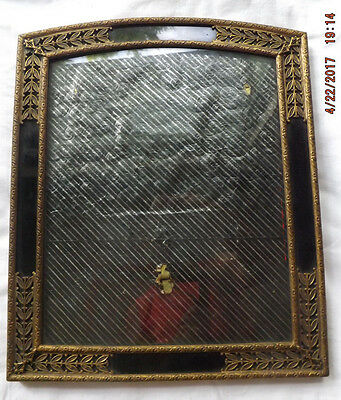 """Antique Brass Bronze Filigree Frame Black Reverse Paint for 8x10"""" Photo/Picture"""