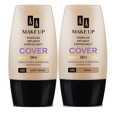 AA OCEANIC MAKE UP COVER CONCEALING & CORRECTIVE FOUNDATION 16h LONG LASTING