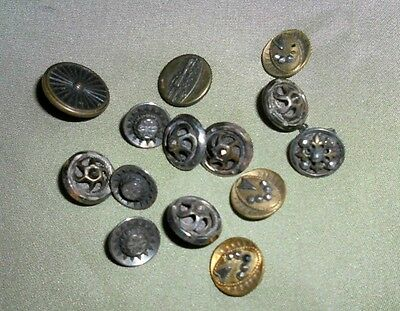 Lot of antique Brass Buttons