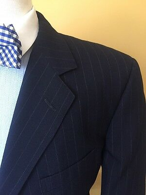 Brooks Brothers Blue Pinstripe Suit - Size 42R