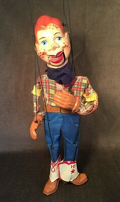 Vintage 1950s Howdy Doody Marionette Peter Puppet Play Things 16""