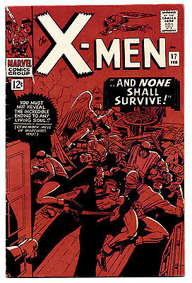 X-Men #17 1966 Marvel 5.5 FN- to 6.0 FN Magneto Returns! Scratch on Front Cover