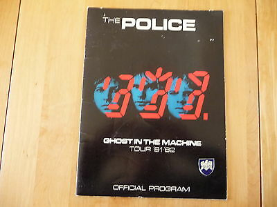 The Police & Sting 2 items:«Ghost in the Machine» OfficialProgramTour1981-82+Pin