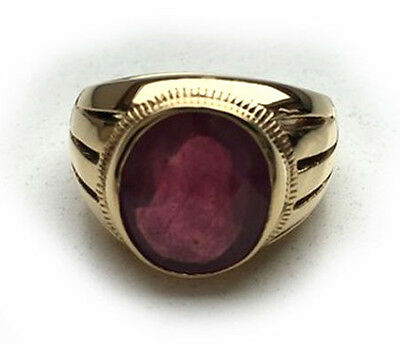 Ruby 13.00 ct  Mens Ring  Yellow Gold  750