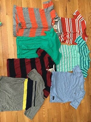 Lot Of 7 Boys Short Sleeve T Shirts & Polo Shirts Size 8/10 - Urban Pipeline,Etc