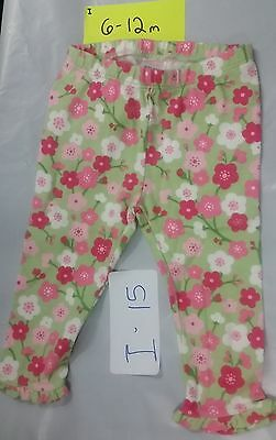 NWT GYMBOREE baby girl flower pants ruffle green pink 6-12 months
