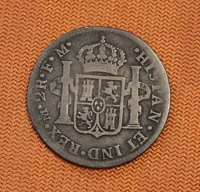 1775 Mexico Silver 2 Reales, Colonial, Spain, FM, M
