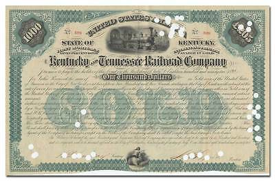 Kentucky and Tennessee Railroad Company Bond Certificate